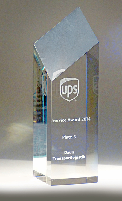 UPS Se Award 2018 3. Platz für Daun Transportlogistikervic